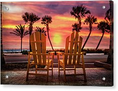 Acrylic Print featuring the photograph Just The Two Of Us by Debra and Dave Vanderlaan