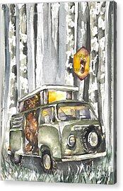Bigfoot, Small Van Acrylic Print