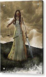 Justice Acrylic Print by Emma Alvarez
