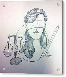 Justice Acrylic Print by Loretta Nash