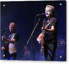 Justin And John Of The Moody Blues Acrylic Print by Melinda Saminski