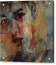 Acrylic Print featuring the mixed media Justin Bieber by Paul Lovering