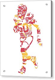 Justin Houston Kansas City Chiefs Pixel Art 6 Acrylic Print