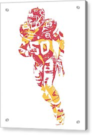 Justin Houston Kansas City Chiefs Pixel Art 7 Acrylic Print
