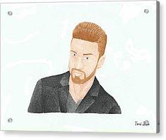 Justin Timberlake Acrylic Print