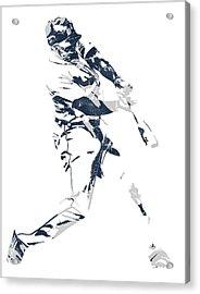 Justin Upton Detroit Tigers Pixel Art 1 Acrylic Print