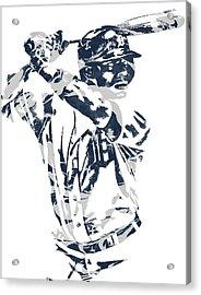 Justin Upton Detroit Tigers Pixel Art 2 Acrylic Print