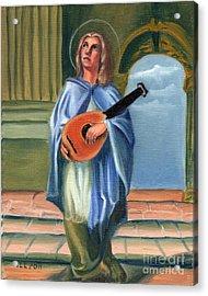 Justin's Saint Acrylic Print by Theresa Cangelosi