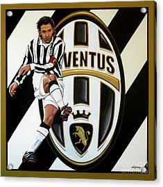Juventus Fc Turin Painting Acrylic Print by Paul Meijering