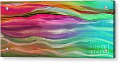 Juxtaposition Abstract Waves Acrylic Print by Mindy Sommers