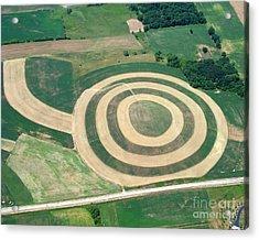 K-004 Kettle Moraine Wisconsin Crop Circle Acrylic Print