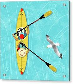 K Is For Kayak And Kittiwake Acrylic Print