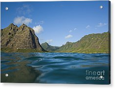 Kaaawa Valley From Ocean Acrylic Print by Dana Edmunds - Printscapes