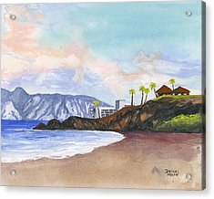 Acrylic Print featuring the painting Kaanapali Beach by Darice Machel McGuire