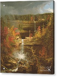 Kaaterskill Falls Acrylic Print by Thomas Cole