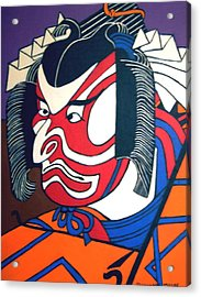 Kabuki Actor Acrylic Print by Stephanie Moore