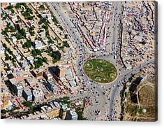 Kabul Traffic Circle Aerial Photo Acrylic Print