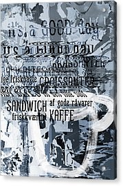 Kaffe 1- Art By Linda Woods Acrylic Print by Linda Woods