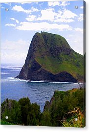 Acrylic Print featuring the photograph Kahakuloa Point- Island Dreaming by Diane Merkle