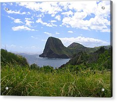 Acrylic Print featuring the photograph Kahakuloa Point- Island Dreaming II by Diane Merkle