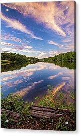 Kahler's Pond Clouds Acrylic Print