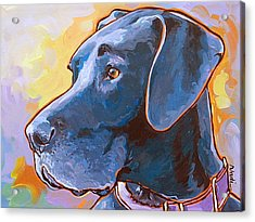 Acrylic Print featuring the painting Kaia by Nadi Spencer