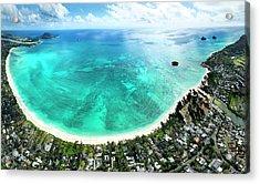 Kailua - Lanikai Overview Acrylic Print