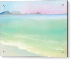 Kailua Sunrise Acrylic Print by Angela Treat Lyon
