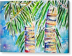 Kaimana Beach Acrylic Print by Julie Kerns Schaper - Printscapes