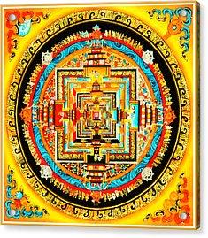 Kalachakra Mandala Acrylic Print