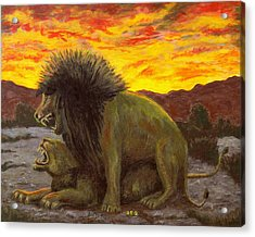 Kalahari Sunset Acrylic Print