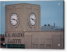 Kalamazoo Gazette Clock Tower Acrylic Print
