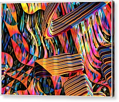 kaleido Calligraph 10x11m3n27m5aa Acrylic Print by Terry Anderson