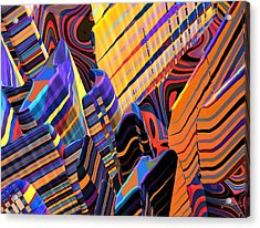 Kaleido-fa-callg. 10x11m3n10 Acrylic Print by Terry Anderson