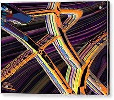 kaleido-Papillon Callg.10x11m23i Acrylic Print by Terry Anderson