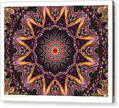 kaleido Perf10 9cAvi 44 Acrylic Print by Terry Anderson
