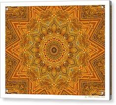 kaleido Prf10 X7x 17b Acrylic Print by Terry Anderson