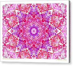 Kaleido Red Rubi 8 Acrylic Print by Terry Anderson