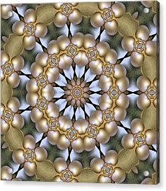 Acrylic Print featuring the digital art Kaleidoscope 130 by Ron Bissett