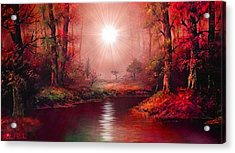 Kaleidoscope Forest Acrylic Print by Michael Rucker