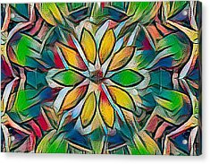 Kaleidoscope In Stained Glass Acrylic Print