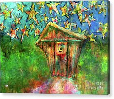 Acrylic Print featuring the painting Kaleidoscope Skies by Claire Bull