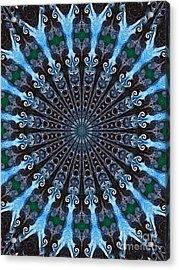 Kaleidoscope Water Swirl Acrylic Print