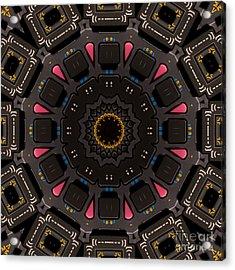 Kaleidoscopic Calculator Acrylic Print by Rolf Bertram