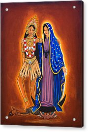 Kali And The Virgin Acrylic Print by James Roderick