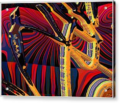 Kali-fa-callig10x11m8 Acrylic Print by Terry Anderson
