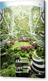 Acrylic Print featuring the digital art Kalpana One Neighborhood Vertical by Bryan Versteeg