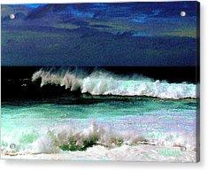 Kaluakoi Surf Acrylic Print by James Temple