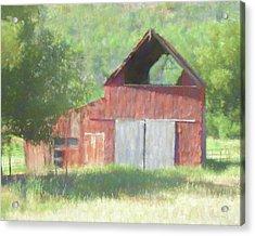 Acrylic Print featuring the digital art Kamas Barn Dop by David King