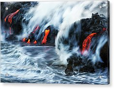 Kamokuna Lava Ocean Entry, 2016 Acrylic Print